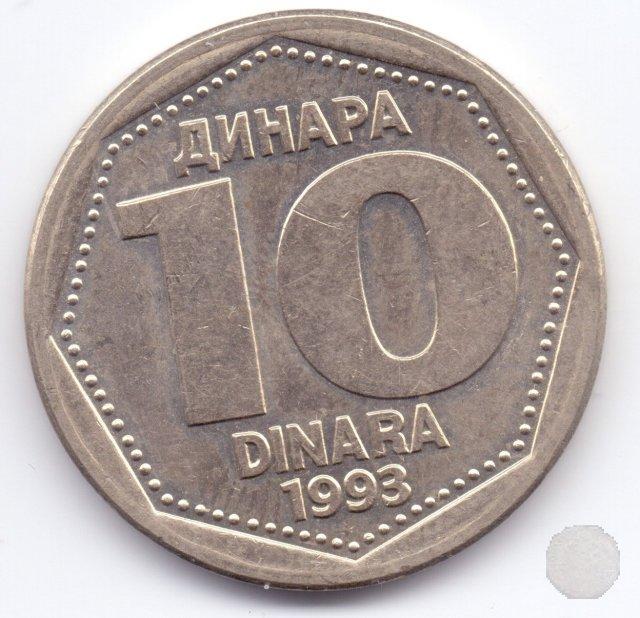 10 dinara II tipo 1993 (Belgrad)