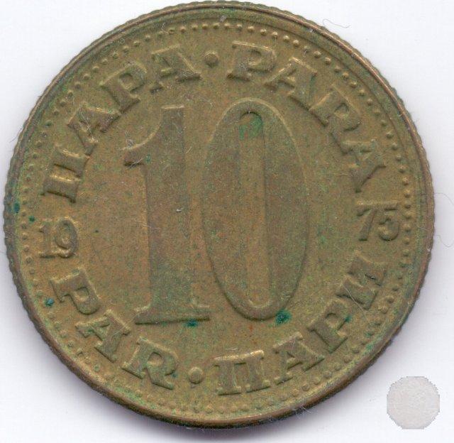 10 para I tipo 1975