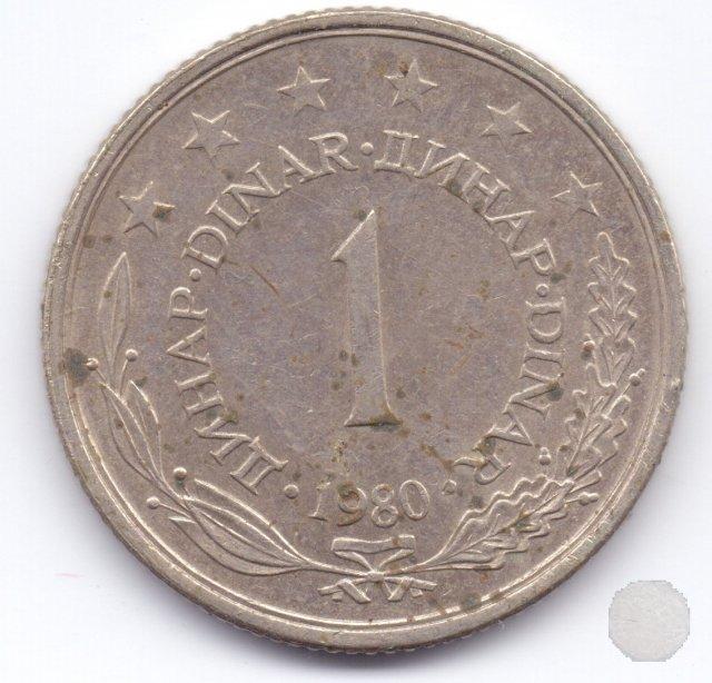 1 dinar IV tipo 1980