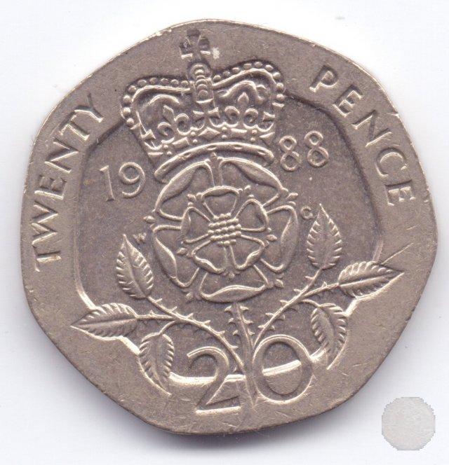 20 pence II tipo 1988 (Londra)