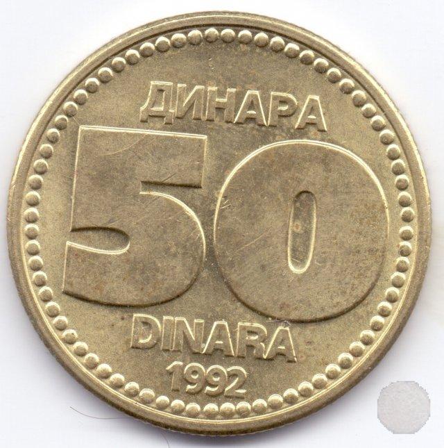 50 dinara I tipo 1992 (Belgrad)