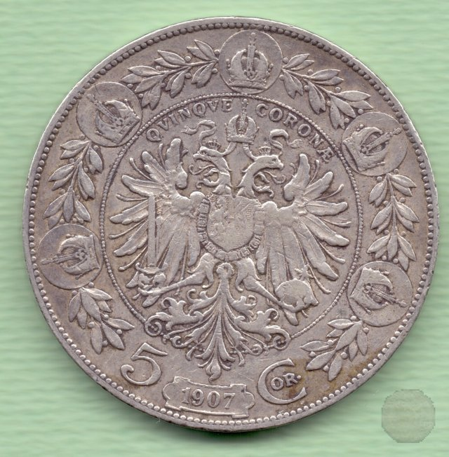 5 CORONA I tipo 1907 (Vienna)