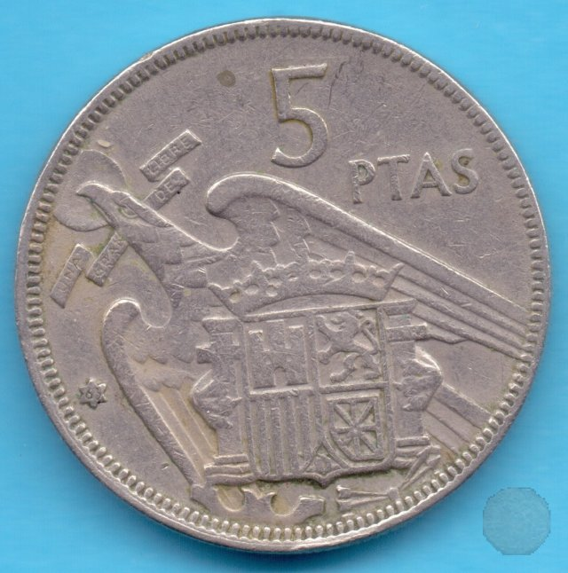 5 PESETAS 1957 (Madrid)