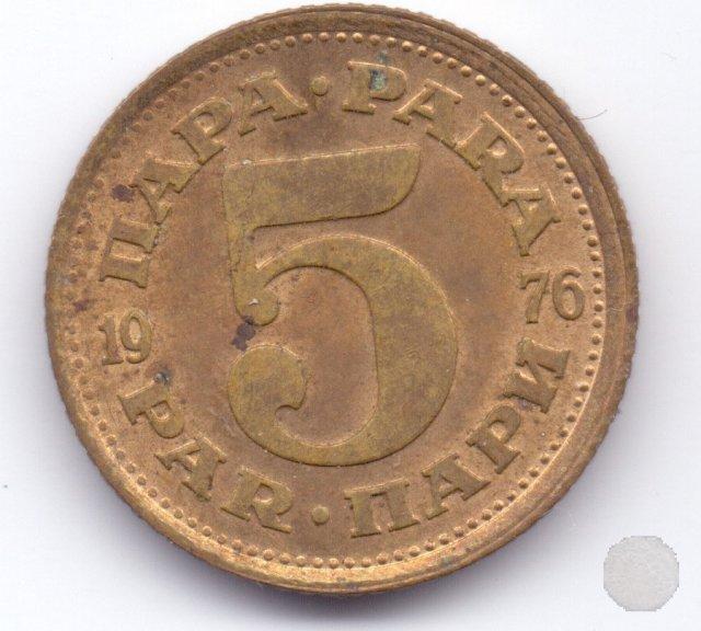 5 para II tipo 1976