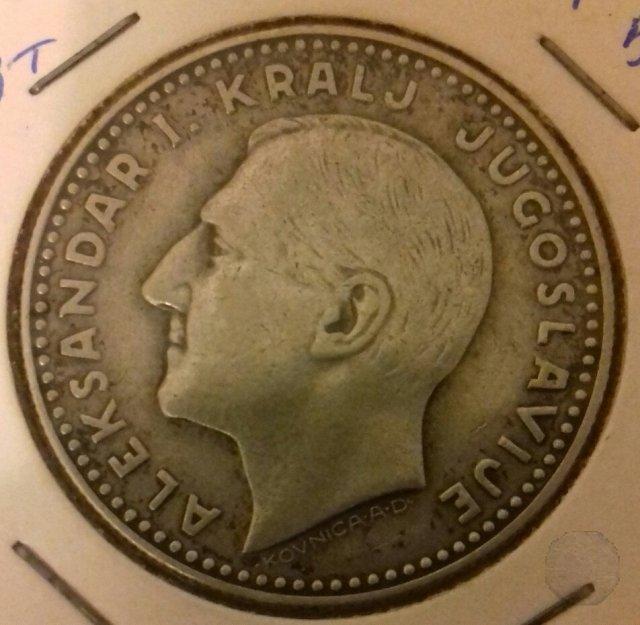 20 Dinara argento 1931 (Kovnica A.D.)